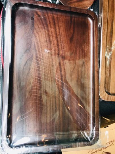 舍里 日式实木手工黑胡桃圆盘 创意碟子水果零食盘点心水果早餐盘 15cm整木 晒单图