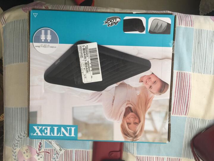 INTEX 内置枕头充气床垫 露营气垫床 折叠床双人特大躺椅183*203*23cm 66770 晒单图
