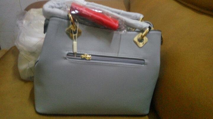 doodoo女包新品单肩包女手提女士斜挎手拎休闲新款大容量包包 蓝灰色 晒单图