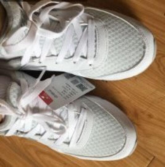 特步女鞋运动鞋女秋冬季新款跑步鞋2019小白鞋学生休闲旅游慢跑鞋子 9798 白灰 37 晒单图