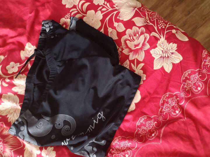 奇海(QIHAI)男士游泳裤平角舒适高弹时尚温泉泳裤男泳衣104026 黑色M号 晒单图