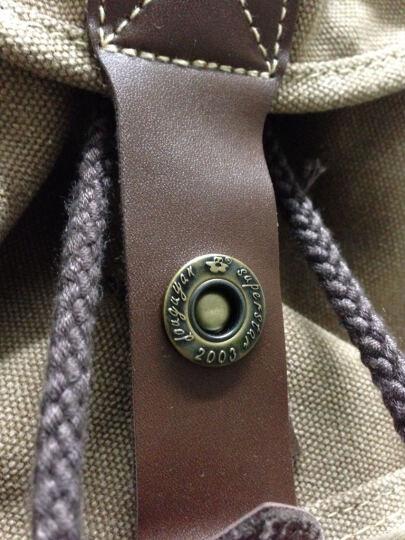 豆鼓眼(DouGuYan)帆布双肩背包女韩版休闲女书包G00117 复古红 晒单图