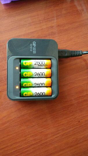 超霸(GP)PB03GW260-2IL4充电套装可充5号7号快充PB03充电器2600毫安充电电池4节装AA 晒单图