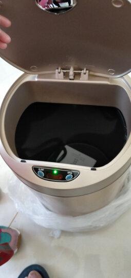 欧本(OUBEN) 自动感应智能垃圾桶家用电动带盖大号卫生间客厅厨房厕所垃圾袋分类不锈钢垃圾筒 感应垃圾桶 月光银平顶(12L) 晒单图
