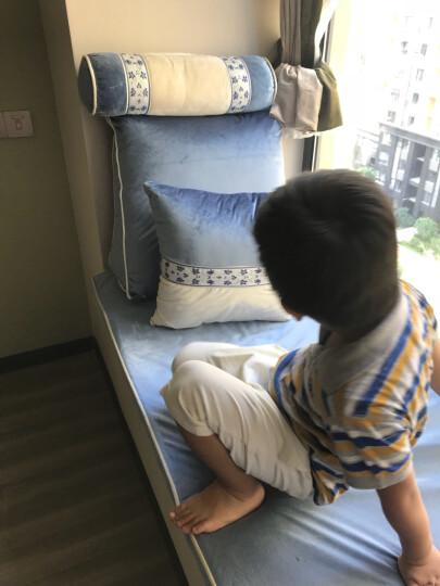 伊菲曼飘窗垫窗台垫子高密度实木沙发垫定做加厚榻榻米海绵坐垫夏季简约时尚现代定制意大利绒布料 浅咖色 1米面料-2.8宽幅 晒单图