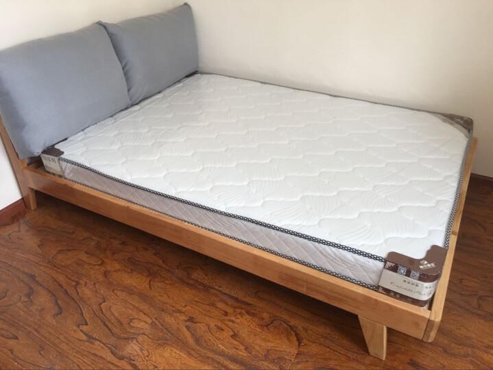 林中漫步家具 床 实木床 北欧床 1.8米双人大床 1.5单人简易床架 单床(款式1) 1.8*2.0(胡桃色) 晒单图