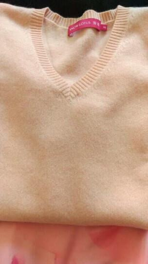雪莲秋冬新款女士山羊绒衫百搭V领套头女毛衣针织衫 打底衫 羊绒衫女 中花灰 R601 XXL(115) 晒单图