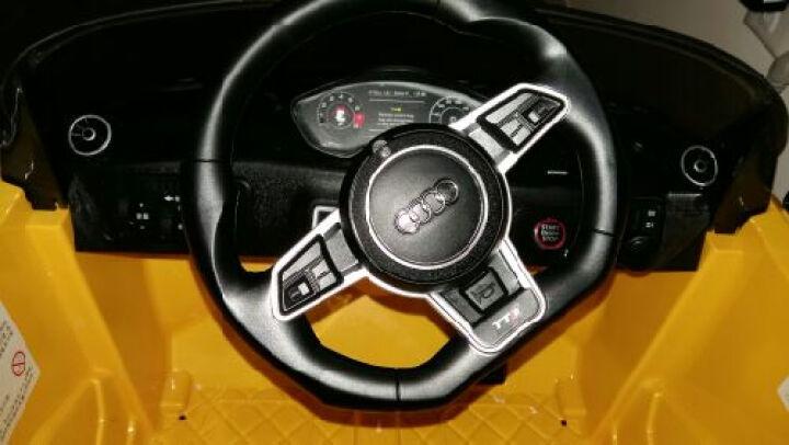 Rastar/星辉童车奥迪TT儿童敞篷车电动车儿童跑车儿童电动车四轮可坐 黄色 双驱12V版 晒单图