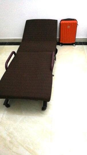 墨尚思简易折叠床单人双人躺椅午休椅午睡床家用折叠椅办公室沙发床陪护床 咖啡色 65cm 晒单图