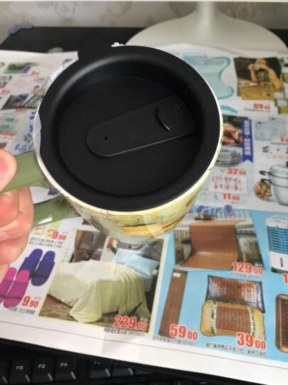 爱屋格林(Evergreen)创意咖啡杯手绘陶瓷杯带盖星巴克式情侣马克杯带盖办公室水杯陶瓷杯子茶杯Z3LTM043N 晒单图