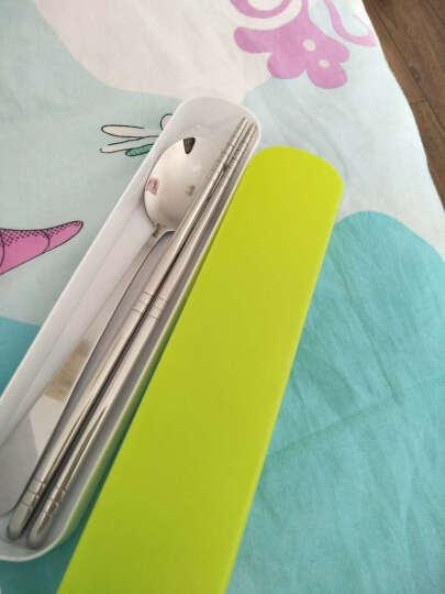 温朵娜 不锈钢便携餐具盒筷子勺子套装便携式餐具调羹旅行餐具学生餐具 便携餐具 颜色随机 晒单图