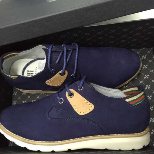 皓顿(HAUTTON)男鞋休闲鞋英伦户外男士皮鞋时尚潮流透气小白运动板鞋子男款 B143白色 42 晒单图