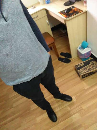 走索(z.suo)男靴 牛皮短靴男潮流马丁靴男休闲鞋情侣款 058M个性黑(加绒) 41 运动鞋尺码 晒单图