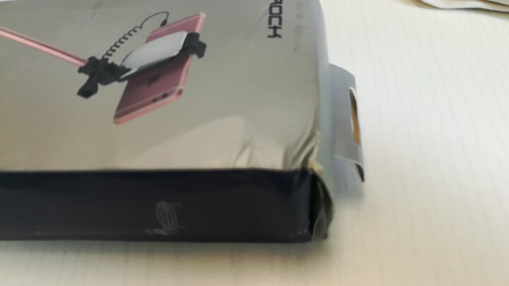 洛克(ROCK) 线控自拍杆后视镜自拍器 适用于苹果三星华为小米魅族手机 玫瑰金 晒单图