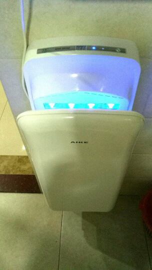 艾克(AIKE)高速干手器自动感应双面无刷电机吹手机卫生间商用干手机AK2006 白色 晒单图