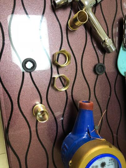 锋田 灵敏数字水表旋翼湿式自来水表出租房家用丝扣4分6分冷水表配加厚镀铜接头 4分表   15 mm 晒单图
