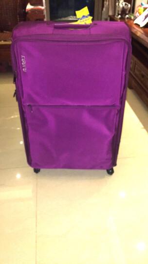旅行大师进口尼龙拉杆箱万向轮30英寸托运箱旅行箱男行李箱TSA密码箱布箱34英寸超大拉杆箱 紫色. 32英寸出国搬家 晒单图