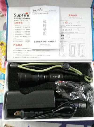 神火 (supfire) C10S泛光高亮强光手电筒 进口L2灯泡 自行车灯 手电+1节电池+充电器 晒单图
