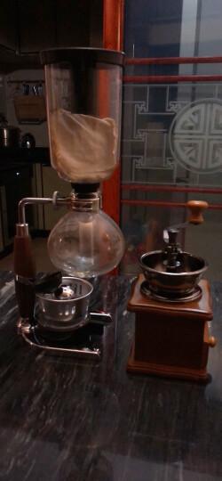 Hero 虹吸式咖啡壶 玻璃咖啡机 手动煮咖啡套装家用滴漏壶 手冲咖啡套装酒精灯款 升级款胡桃木把手虹吸壶3人份 晒单图