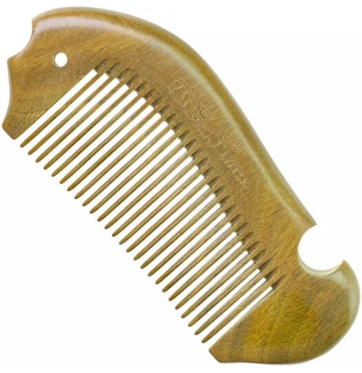 西溪子 绿檀木梳子 儿童随身 diy定制创意可爱女式 木头小梳子 不打结 晒单图