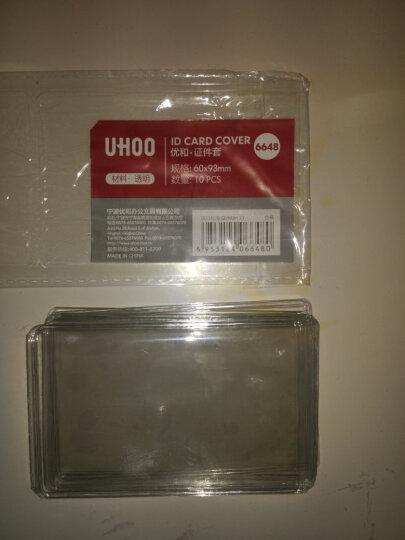 优和(UHOO)10个装 银行卡套交通公交卡套身份证卡套 双面透明 竖开口 6648 晒单图