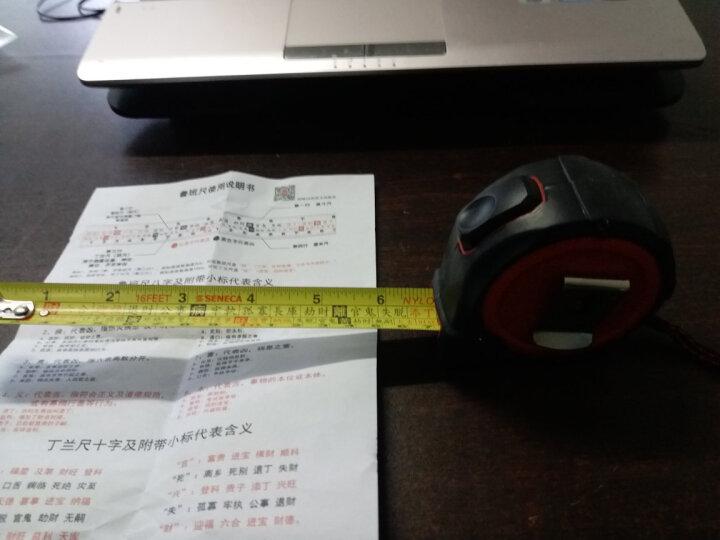 台湾进口SENECA西尼卡鲁班尺风水尺钢卷尺文公尺丁兰尺门公尺5米加宽建筑用尺 晒单图