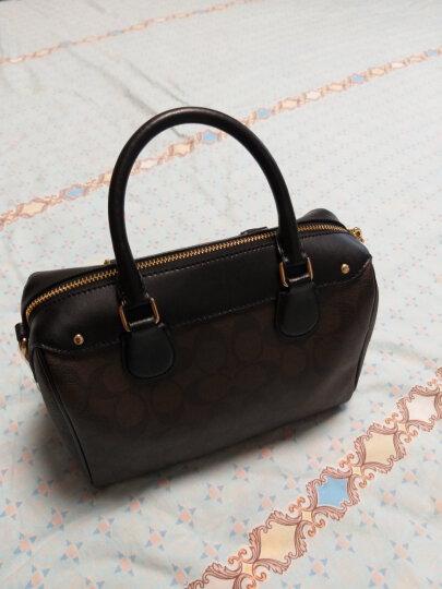 COACH 蔻驰 奢侈品 女士小号波士顿桶包手提包单肩斜挎棕色配黑色PVC配皮 F58312 IMAA8 晒单图