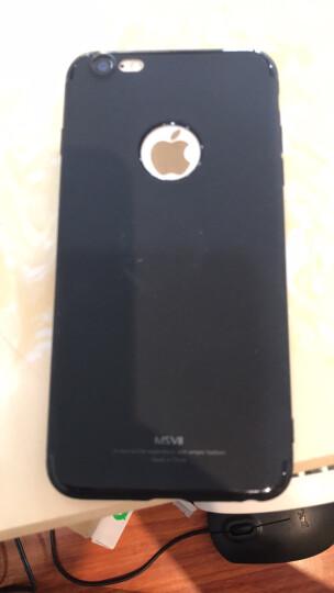 摩斯维 苹果6s手机壳iPhone6/6S Plus保护套硅胶防摔男女潮薄款全包磨砂软壳 plus 5.5英寸-流沙黑【壳膜套装】 晒单图