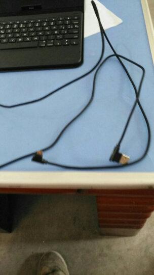 皇尚 安卓数据线L型弯头充电线 oppo/vivo/华为/小米/三星/手机快充充电器线 【1.8米】极酷黑 晒单图