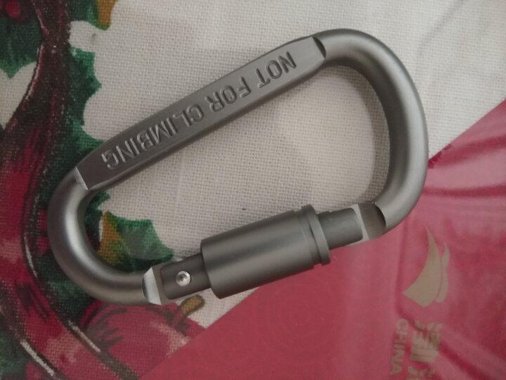 第七大陆(ANTARCTICA)多功能铝合金登山扣 快挂D字型钥匙扣 银色D字扣 晒单图