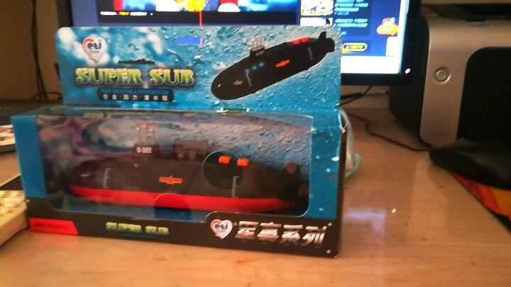 DH合金航母模型玩具航空母舰仿真军事模型驱逐舰护卫合金汽车模型儿童军舰回力船 合金核潜艇潜水艇 晒单图