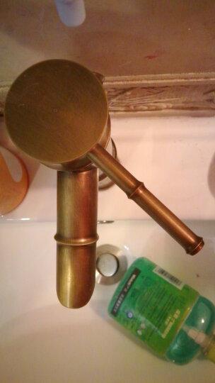 贝尔格兰  仿古龙头全铜欧式面盆冷热水龙头 台上盆 竹节加高 斜切款 晒单图