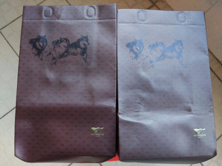 七匹狼(SEPTWOLVES)男士钱包/皮带套装 头层牛皮多功能短款钱包+腰带套装礼盒 L9441 晒单图