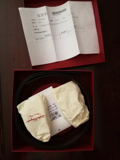 Ferragamo菲拉格慕皮带双面板扣皮带 黑色/墨绿色 671423 105cm 晒单图