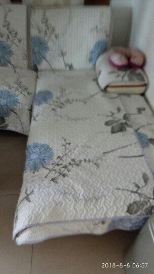 金字塔 沙发垫套装坐垫子夏季全棉沙发套罩巾飘窗垫四季布艺全包防滑三人座垫盖布 斜纹全棉 闭月 90*90cm 单条 晒单图
