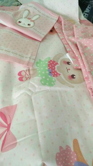 梦洁宝贝 儿童家纺 女孩全棉卡通三件套 纯棉床单被套 兔芭蕾 1.2米床 150*215cm 晒单图