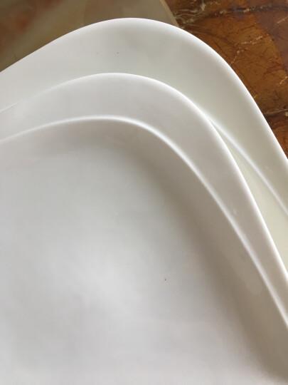 同光 欧式牛排盘创意西餐盘菜盘浅碟陶瓷纯白平盘酒店蛋糕点心意面盘子 10寸花仙子边长25cm 晒单图