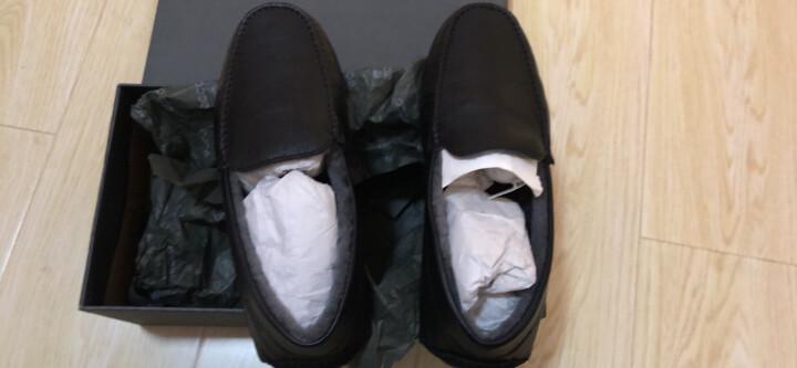 ECCO爱步 轻便舒适套脚豆豆鞋男 简约时尚磨砂休闲皮鞋 温暖莫克581604 黑色51052 41 晒单图