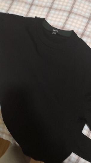 Brloote/巴鲁特针织衫男士圆领羊毛衫长袖毛衣纯色薄款套头打底衫新款春秋男装 黑色 175/96A 晒单图
