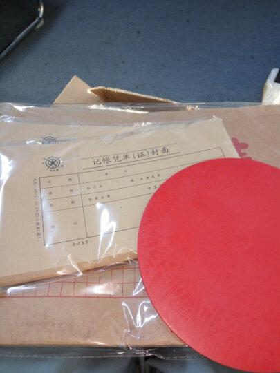 亚信 141 软印章垫 盖章用垫子 圆形印垫板财务胶皮垫 财务印章垫 红圆印章垫 晒单图