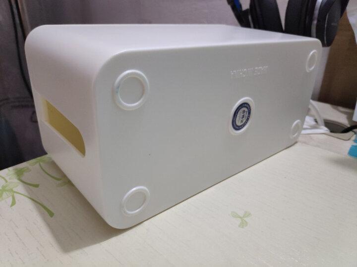 英特曼(Etman) 英特曼(ETMAN)排插收纳盒 电源线/电线整理盒理线盒插座插线板拖线板集线盒 白色 晒单图