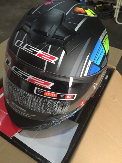 LS2防雾头盔摩托车头盔全盔男女式全覆式四季跑盔赛车跑车盔夏季安全帽FF352冬季 黑白赛道 XXL 晒单图