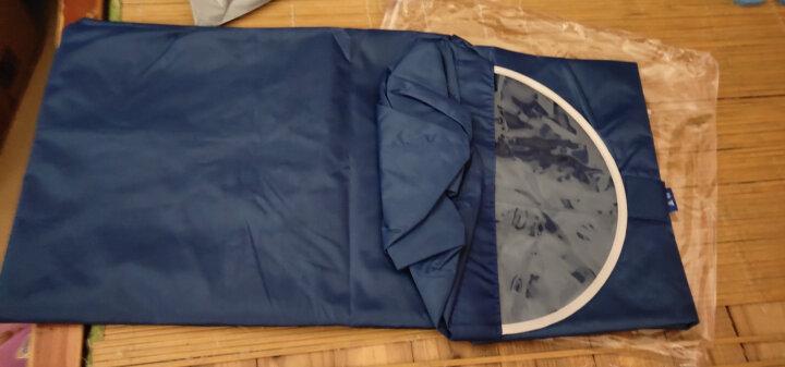 正招(kendo)户外骑行成人自行车雨衣男女式单人雨披加大加厚 Z-1天蓝色3XL 晒单图