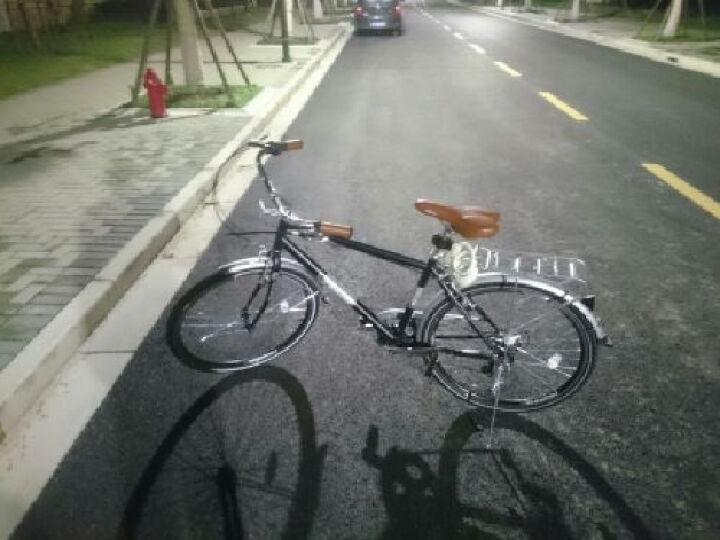 飞鸽自行车26寸男女士通勤车复古淑女车 禧玛诺外6变速城市休闲代步学生单车 C-TWO黑色 晒单图
