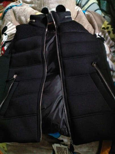 鸭鸭(YAYA)秋冬男外套短款外穿休闲潮羽绒服背心马甲男D-5502 黑色 175/92A 晒单图