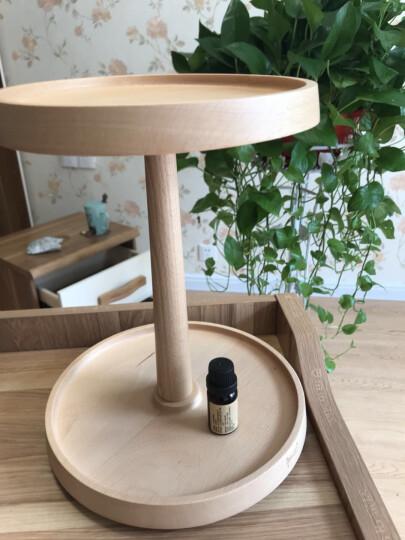 初心实木圆形旋转化妆品收纳架创意梳妆台护肤品整理收纳盒 两层精装版 晒单图