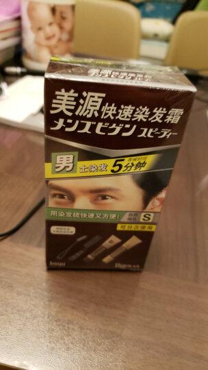 美源(Bigen)快速染发霜6号(自然深棕色)(美源染发膏染发霜植物染发剂 遮盖白发健康安全温和不易伤发) 晒单图