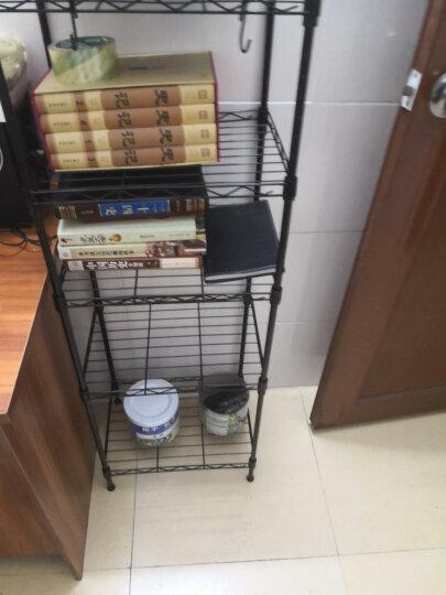 溢彩年华 厨房置物架子 出口移动书架阳台花架浴室收纳架货架  烤箱微波炉架储物架 YCI2057-BK 晒单图