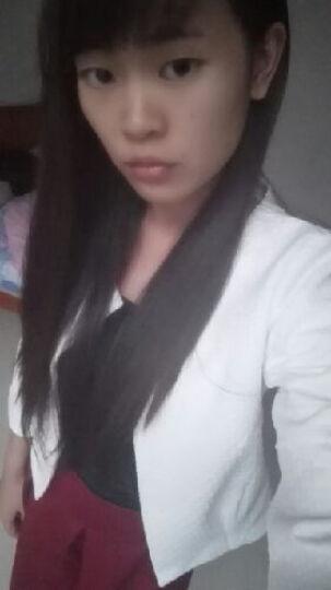 洛曼蒂娜丝 2019春秋新款套装韩版修身小香风两件套连衣裙子上衣短裙套装女3044 白色+酒红半身裙 M 晒单图