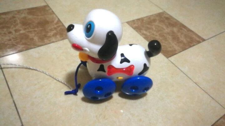 宝丽婴儿拖拉玩具儿童拉线牵绳宠物小狗玩具带音乐拖拉车1-3岁幼儿宝宝六一儿童节礼物 顽皮的小狗1222 晒单图